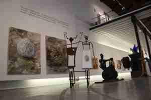 Jose Manuel Haro art and Wes Somerville sculpture