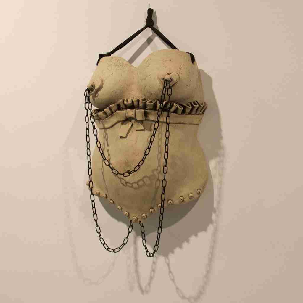 la hija del cura II, BDSM sculpture by Emma Plunkett