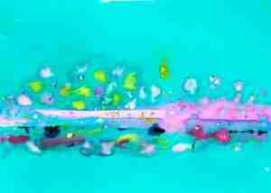 Emma Plunkett Art, Large abstract colourful watercolour