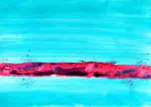 Emma Plunkett Art, Large abstract turquoise watercolour