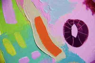 mixing vivid colours