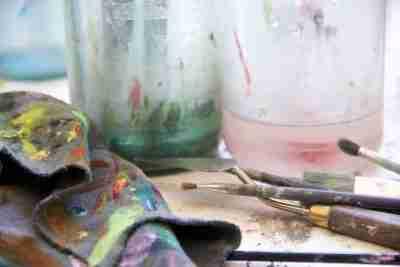 oil paint rag