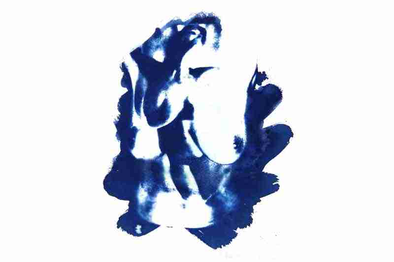 feminine nude projections cyanotype