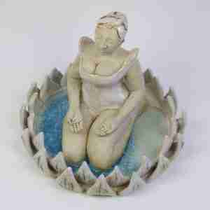stoneware zen meditation sculpture