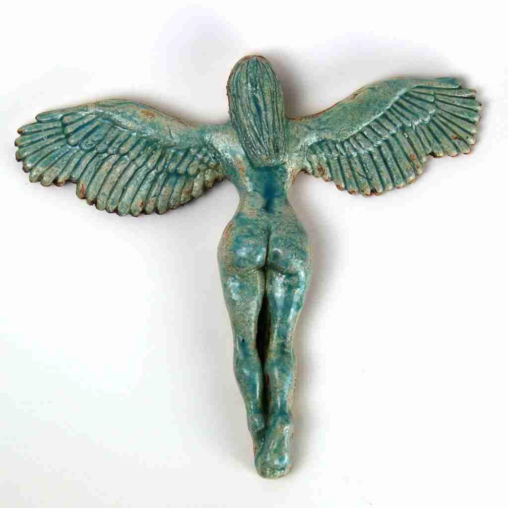 Turquoise stoneware sexy angel