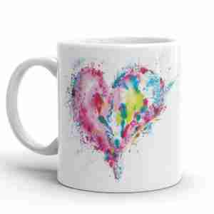 Watercolour Love Heart Mugs