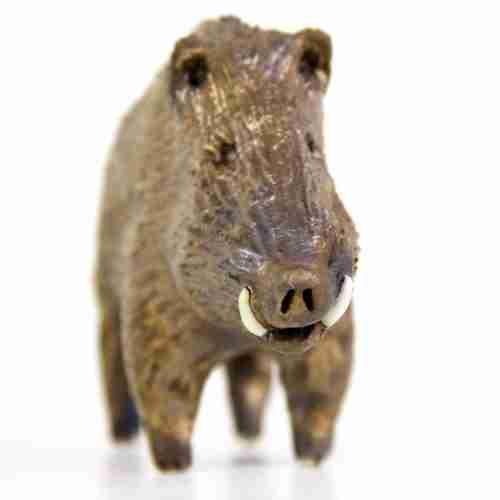 stoneware wild boar sculpture