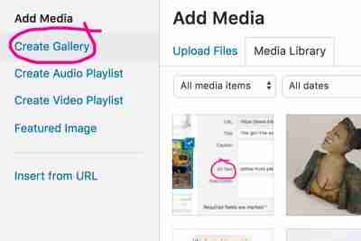 how to create a wordpress picture gallery