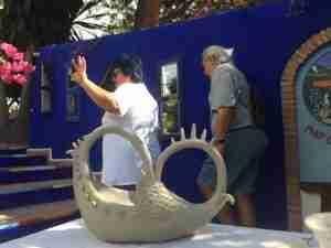 Emma Plunkett clay art demonstration