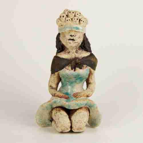 little lady blindfolded sculpture