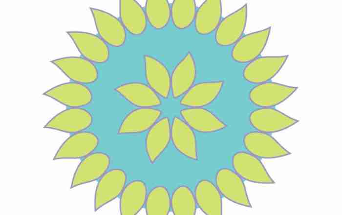 Creative collaborations, vector flower