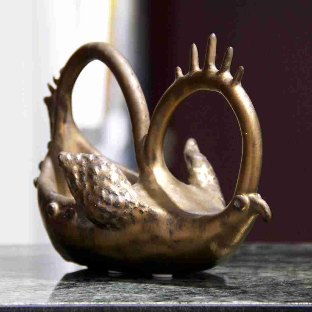 golden bird sculpture