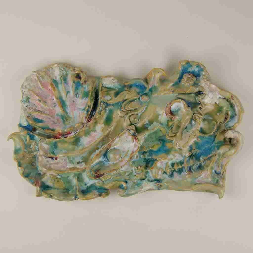 abstract seascape plaque