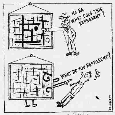 Ad Reinhardt cartoon