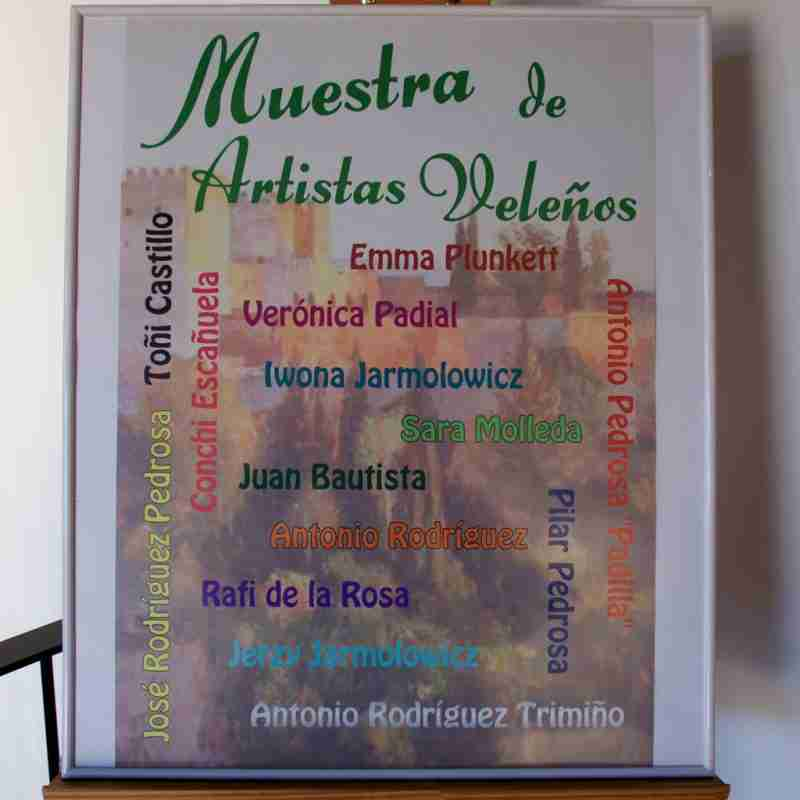 Velez de Benaudalla group art exhibition invite