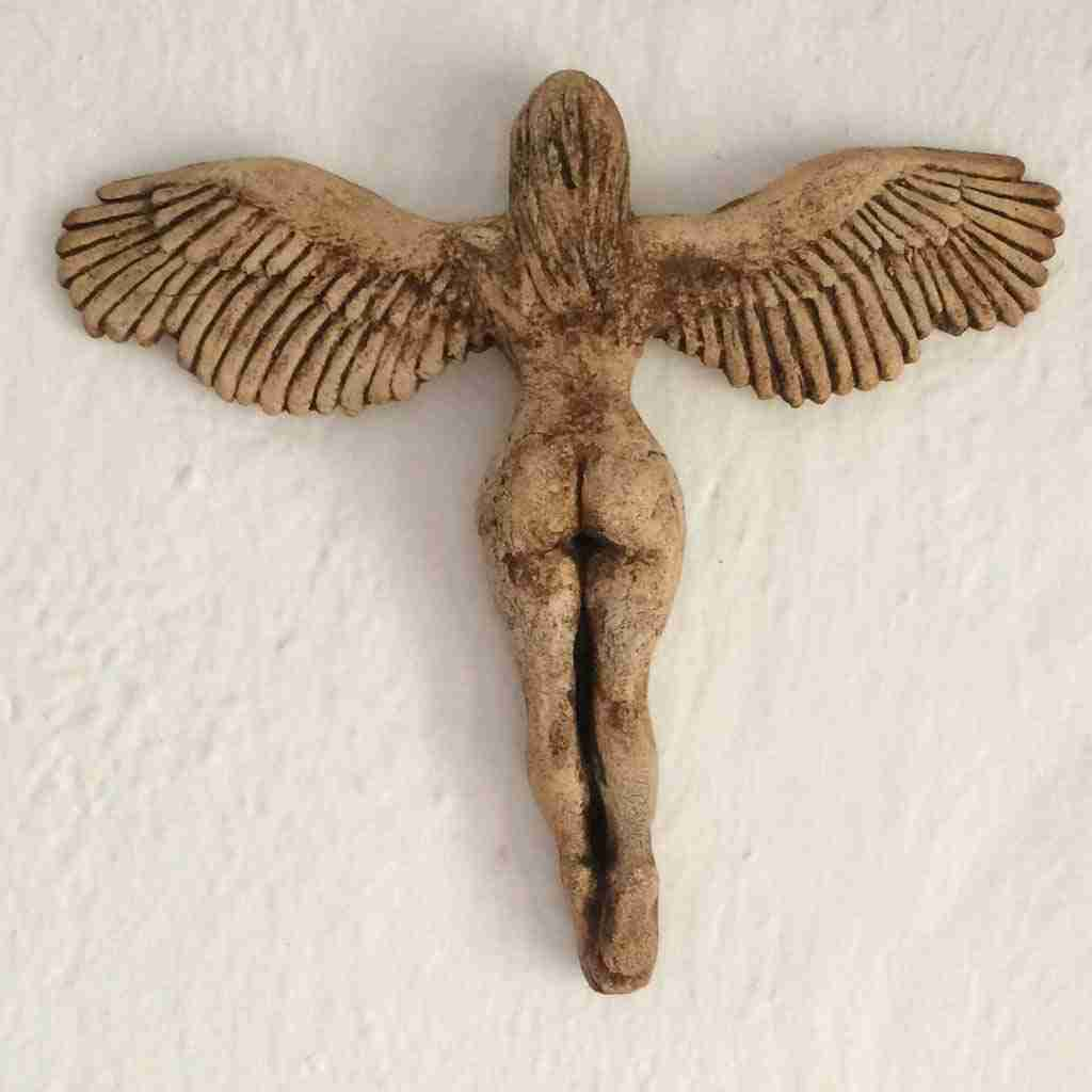 Sexy wall mounted Angel with gorgeous bottom and wings