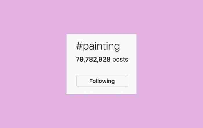 art marketing tips - hashtags
