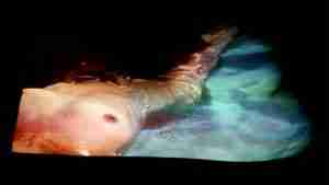 semi erotic art film of a nude swimmer