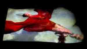 semi erotic art film of a nude swimmer
