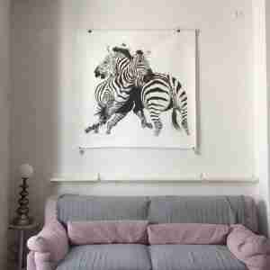 Zebra charcoal drawing by Michael Alexander