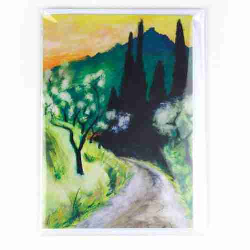 The Andalusian Landscape - Track greeting card