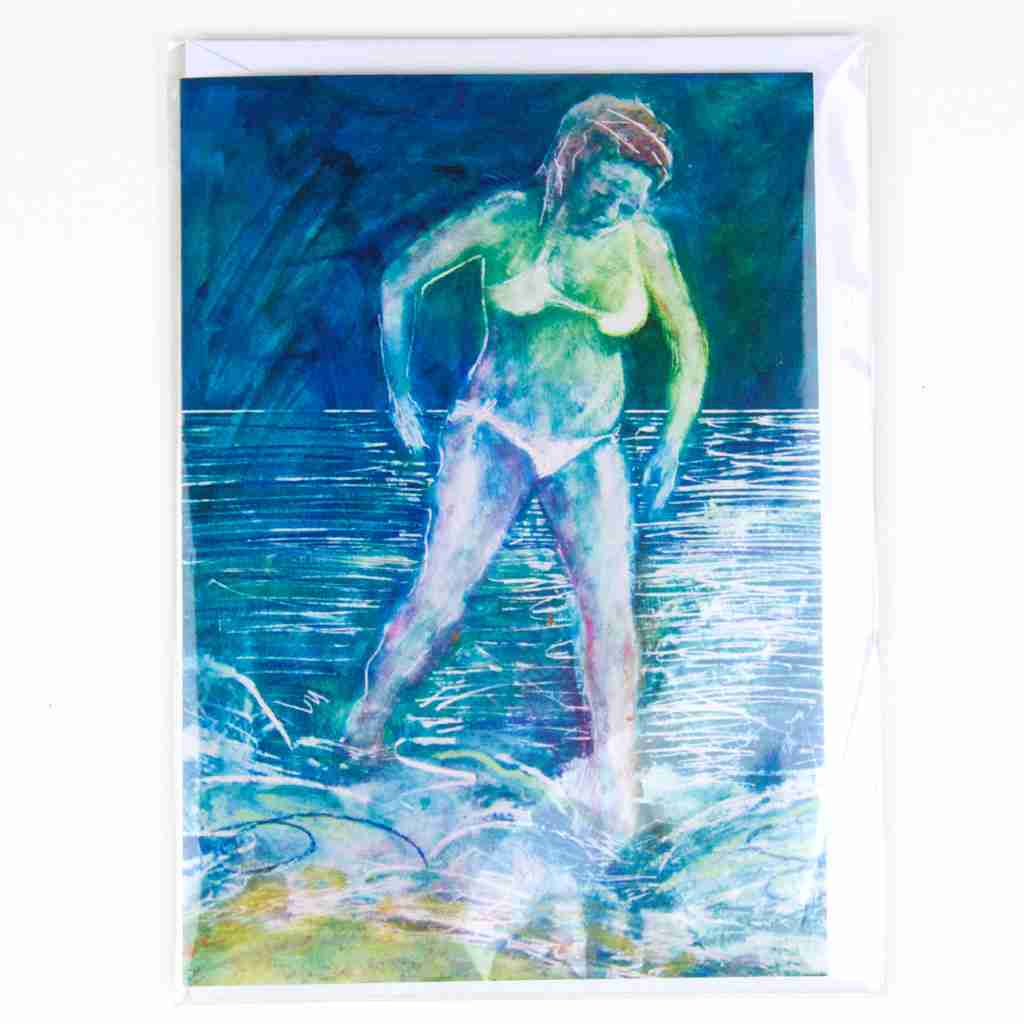 Bather - greeting card